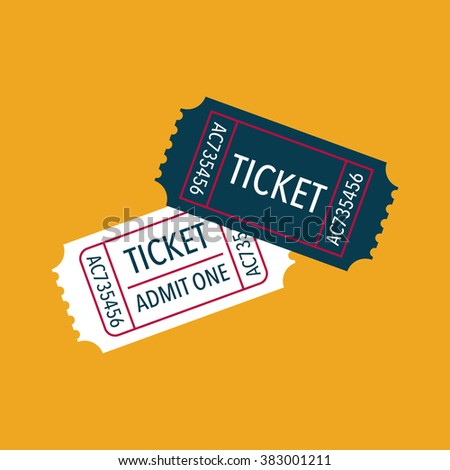 Tickets icon. Vector illustration - stock vector