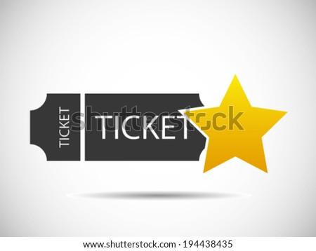Tickets Star - Best Ticket - VIP Tickets - stock vector