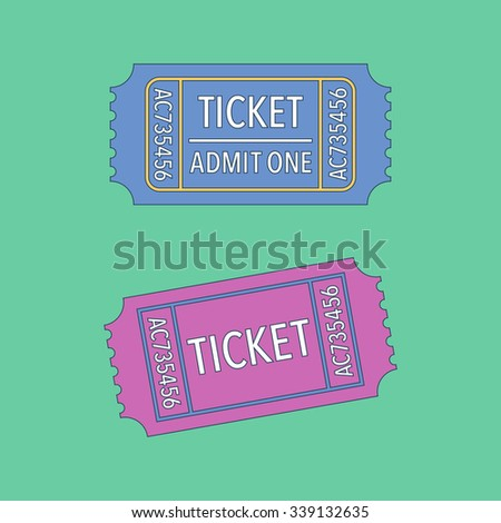 Tickets symbols. Vector illustration