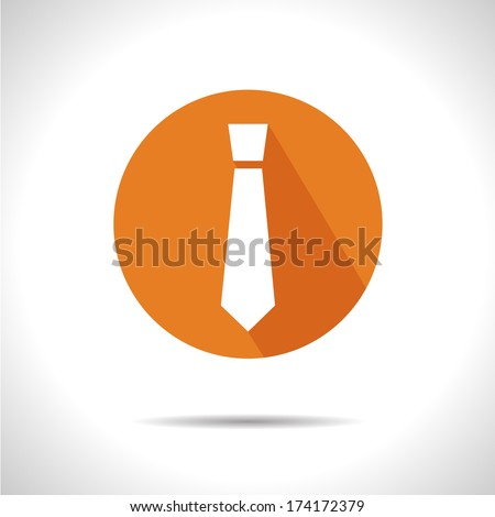 Tie icon. Eps10 - stock vector