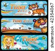 tiger banners - stock