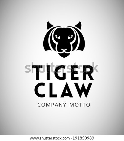 Tiger Emblem for your Business - stock vector