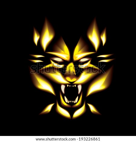 Tiger fire vector - stock vector