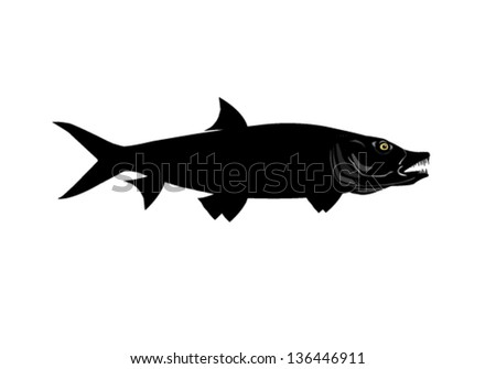 Tiger Fish Silhouette