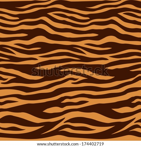 Tiger fur  background or texture. Vector illustration - stock vector