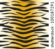 tiger fur seamless pattern - stock vector