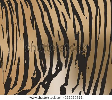 Tiger fur texture - stock vector