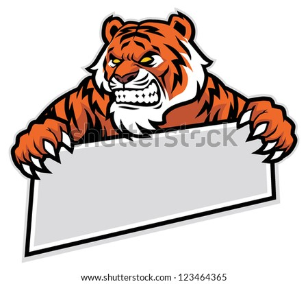 tiger grip the banner - stock vector