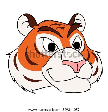 Tiger head illustration - stock vector