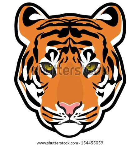Tiger ( head vector) - stock vector