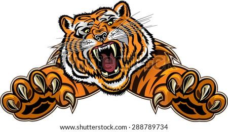 tiger jump stock vector royalty free 288789734 shutterstock