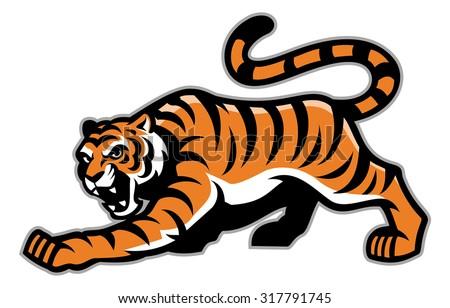 tiger mascot - stock vector