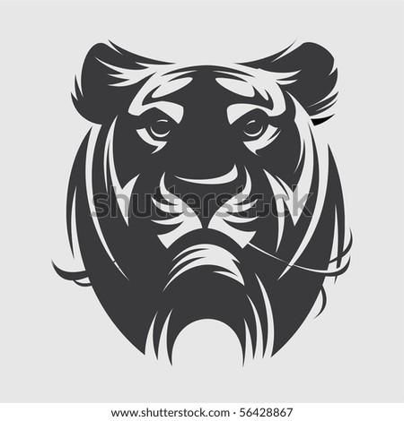 tiger mascot graphic - stock vector