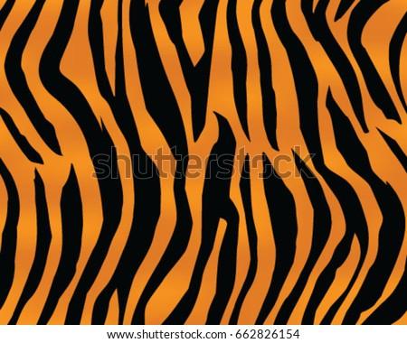 Tiger Pattern Print Stripes Skin Texture Design Decor Illustration