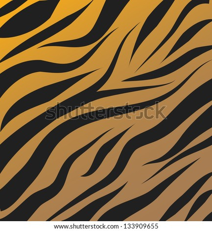 Tiger pattern vector background - stock vector
