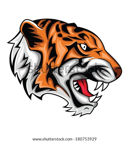 Tiger roar vector - photo#8