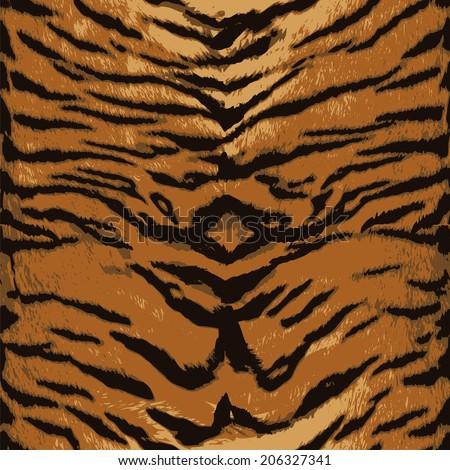 Tiger seamless pattern design, vector illustration background - stock vector