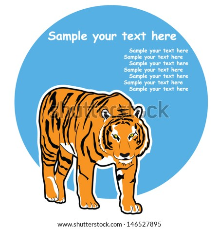Tiger Symbol, Vector Picture Background - stock vector
