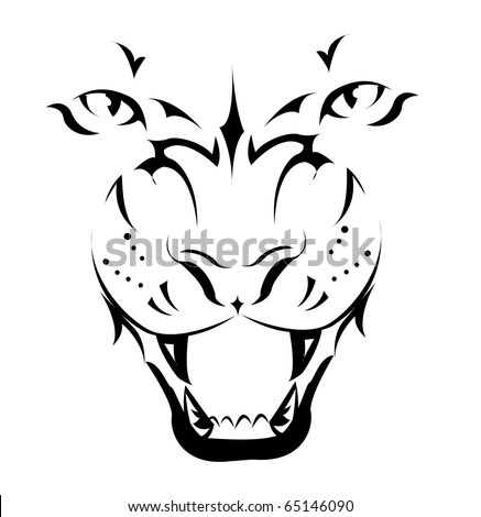 Tiger, Tattoo - stock vector