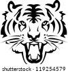 Tiger tattoo vectors - stock photo