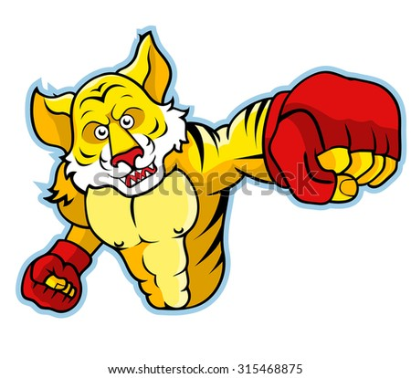 Tiger With Boxing Gloves