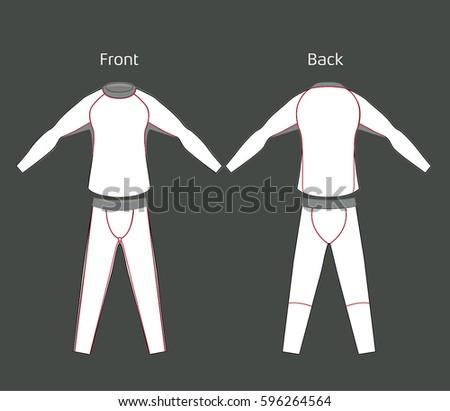 tights rashguard white stock vector 596264564 shutterstock. Black Bedroom Furniture Sets. Home Design Ideas