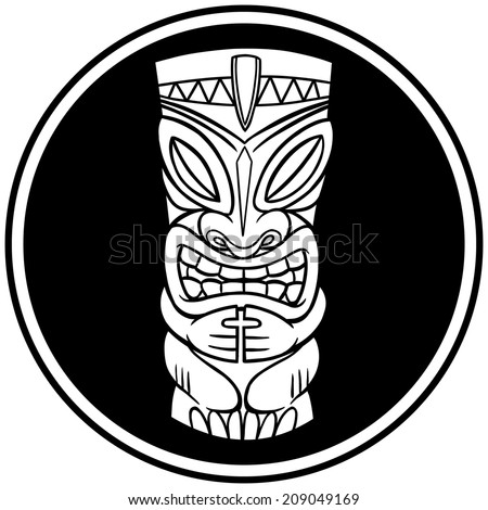 Tiki Ghost Symbol - stock vector