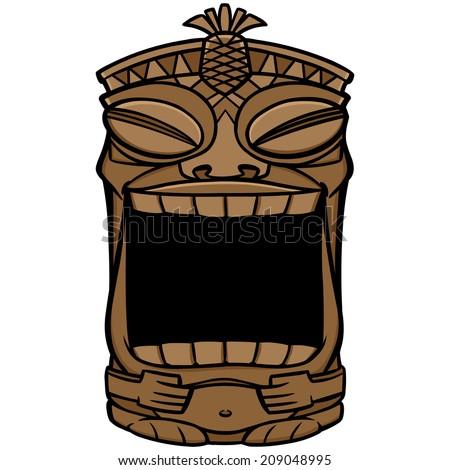 Tiki Mouth - stock vector