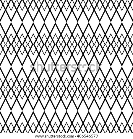 Tile black and white vector pattern or website background