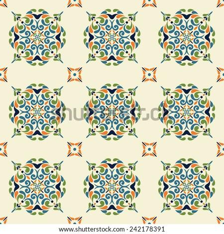 Tile pattern, Victorian motives, stylish - stock vector