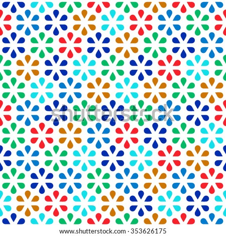 Tile pattern with abstract flowers. Seamless decoration wallpaper. Abstract vector illustration with flowers. Can be used for wallpaper, pattern fills, web page background, surface textures. - stock vector