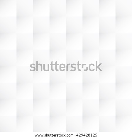 Tileable 3D modern optical illusion recurring creative concept design techno textural fond of  realistic gray celluar plastic grid. Trendy artistic extruded style bulging retro tracery template paper - stock vector