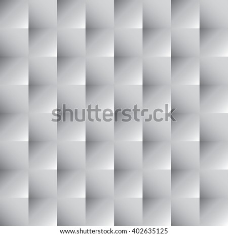 Tileable 3D modern optical illusion recurring creative concept design techno textural fond of white realistic celluar plastic grid. Trendy artistic extruded style bulging retro tracery template paper - stock vector