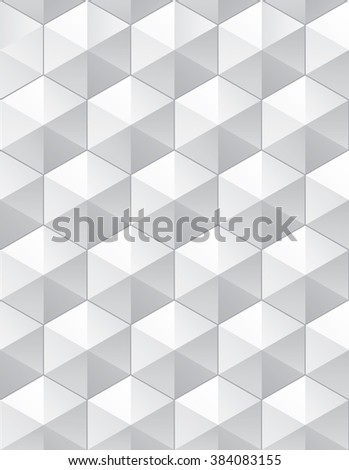 Tileable eco 3D modern recurring creative conceptual design techno textural fond consisting of convex plastic cellular grid. Trendy artistic multifaceted extruded stylish simple retro mesh row template - stock vector