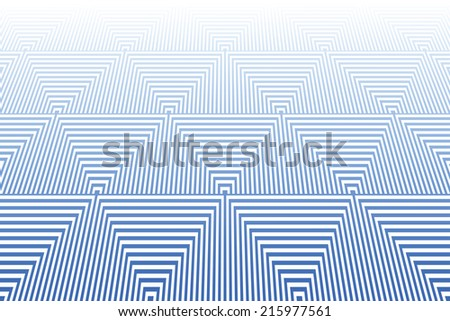 Tiled textured surface. Abstract blue geometric background. Striped triangles pattern. Vector art. - stock vector