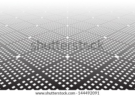 Tiled textured surface. Abstract geometric background. Vector art. - stock vector
