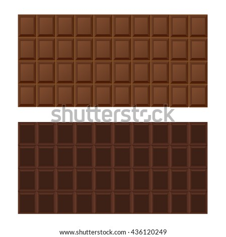 Tiles of milk and dark chocolate