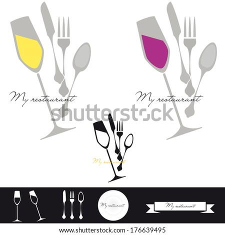 Tilted glass and cutlery disorder