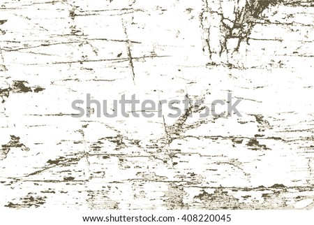 Timber wood with cracks, speck, splinter, branch knot and twigsgrunge background  texture pattern for vintage design - stock vector