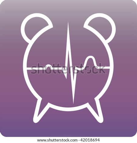 time and heart - stock vector