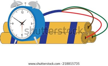 Time bomb - stock vector