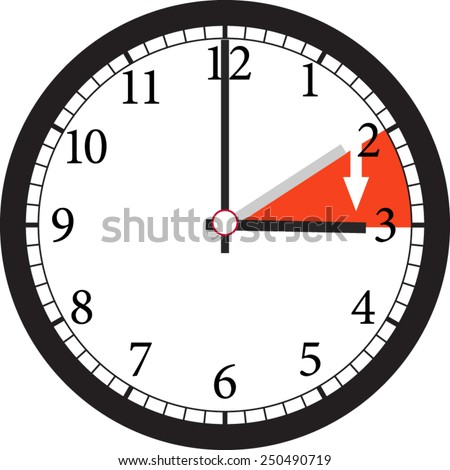time change ahead  - stock vector