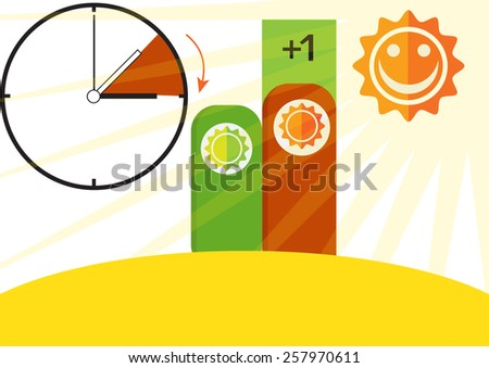 time change day long  - stock vector