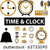 time & clock - stock vector