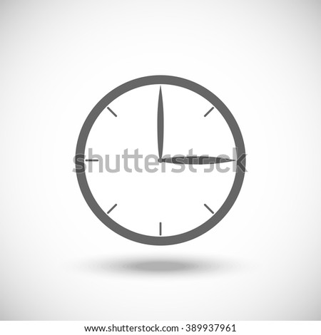 Time clock Icon, Vector