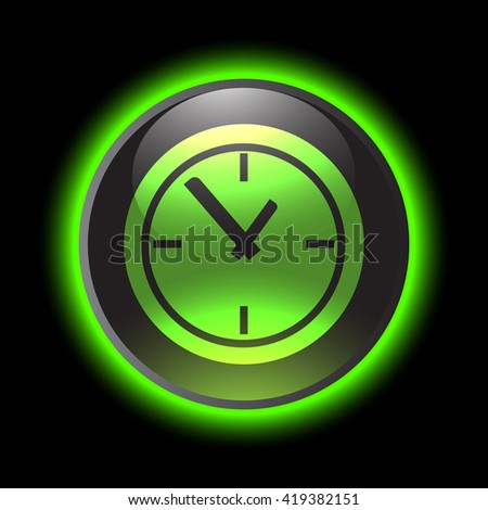 Time Clock vector icon