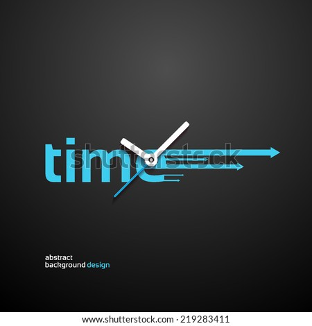 Time Concept background design - stock vector