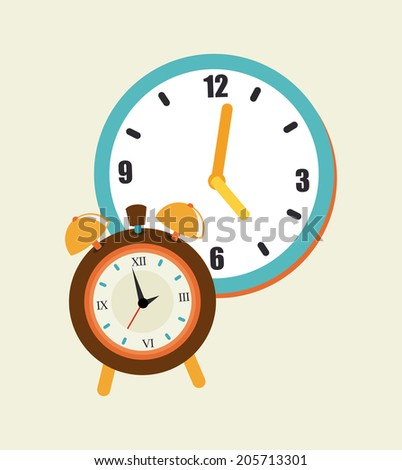 Time design over beige background, vector illustration