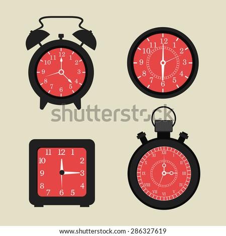 Time design over beige background, vector illustration. - stock vector