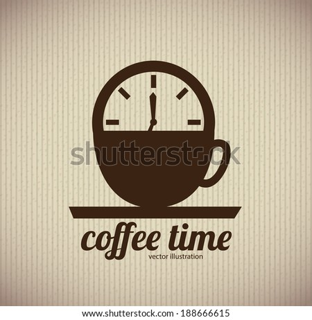 Time design over brown background, vector illustration - stock vector